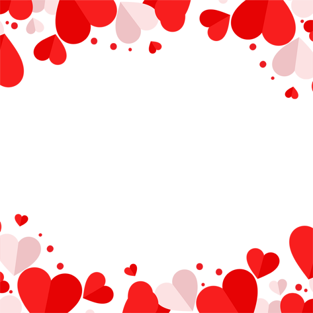 Heart vector png. Red and pink frame