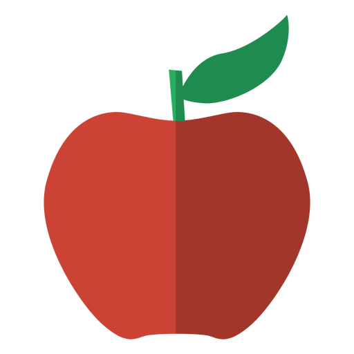 Vector fruits apple. Red icon fruit transparent