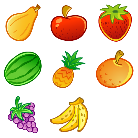 Vector fruits banner. Free icons icon search