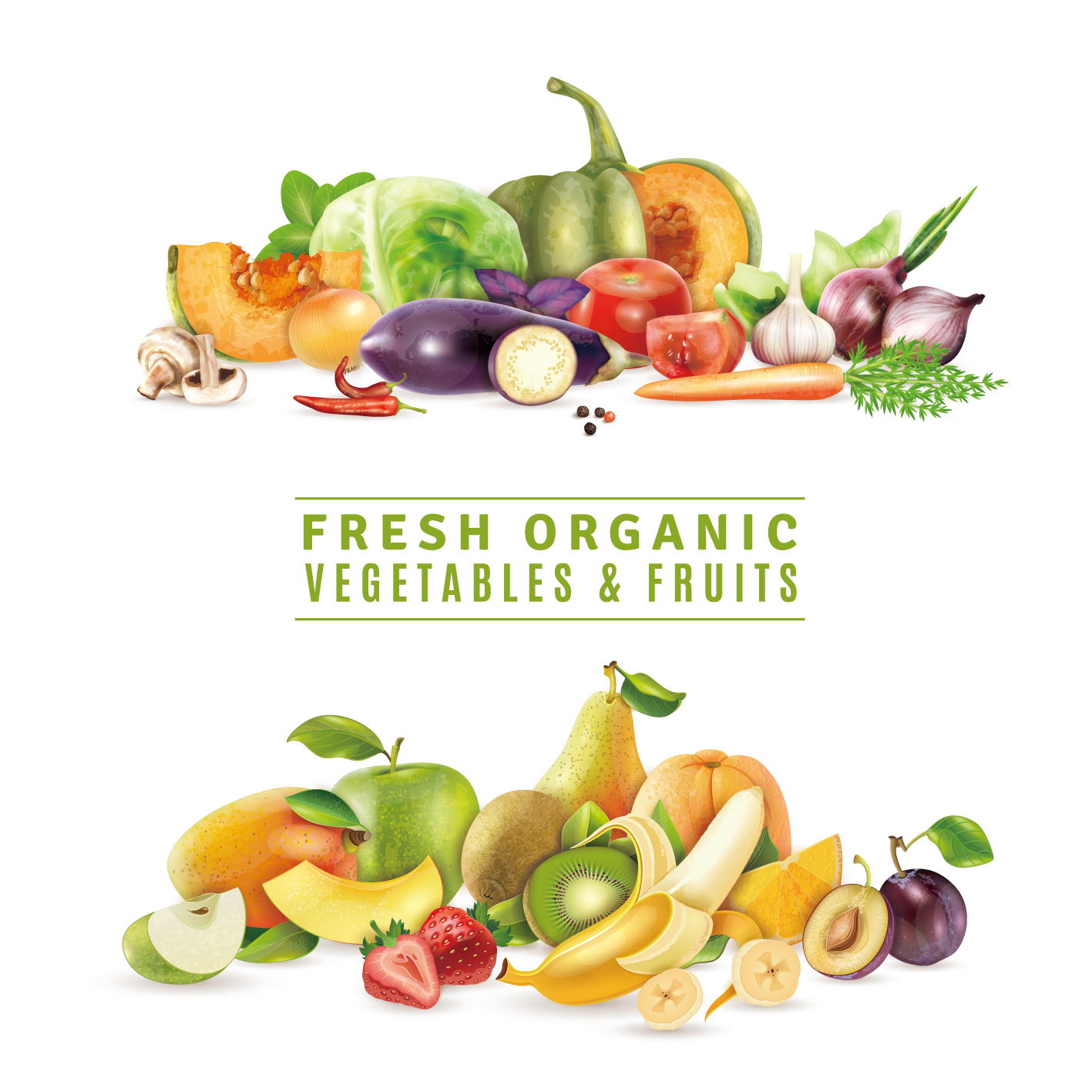 Juice organic food fruit. Vector vegetables fresh vegetable banner library library