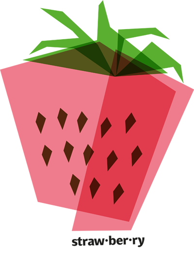 Vector vegetables geometric. Strawberry layers and transparency