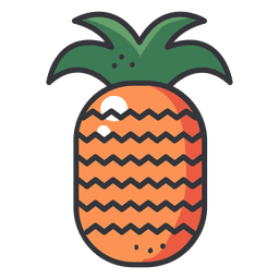 Colored drawing pineapple. Minimalist background pattern vector