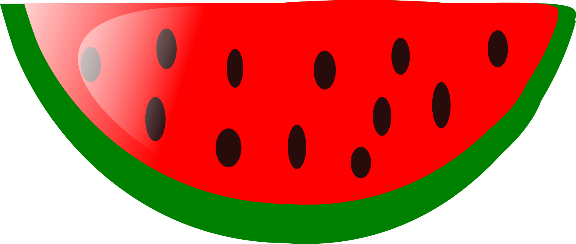 Vector fruits sliced. Watermelon slice clipart free