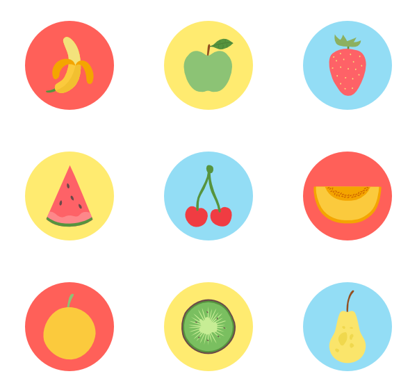 Vector psd summer. Food icon packs