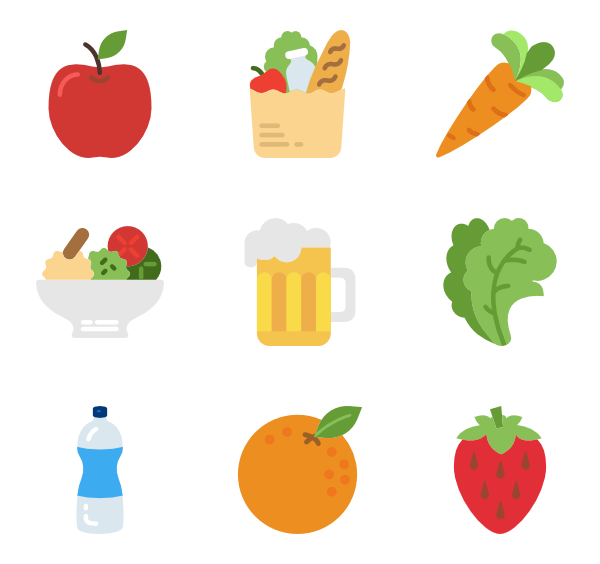 Vector fruits svg. Cook icon packs