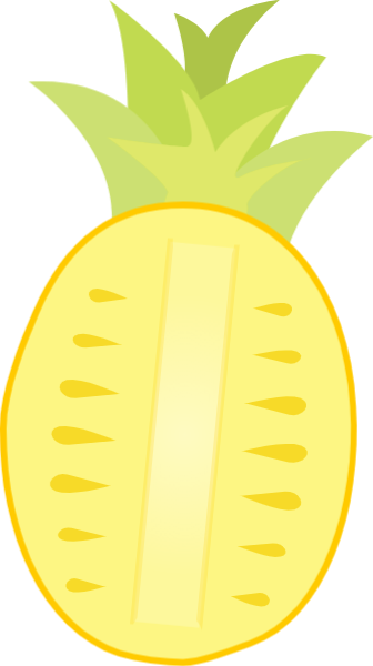 Vector fruits yellow fruit. Free online pinapple food