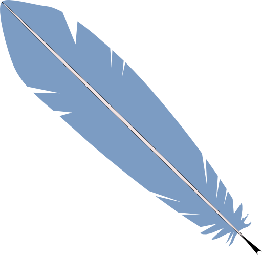 Vector fur duck feather. Cliparts zone free clip