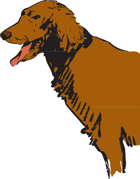 Dachshund clipart brown dachshund. Furry panting dog clip