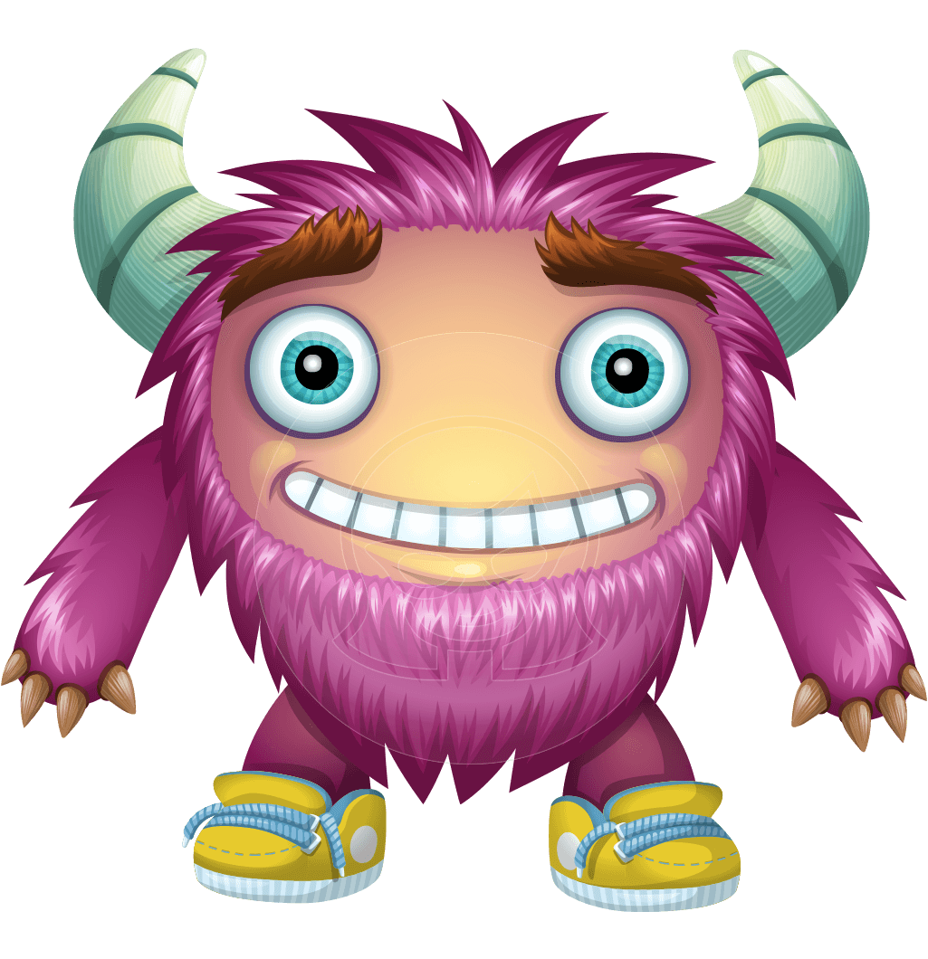 Funny character macfurry graphicmama. Vector monster file banner royalty free stock