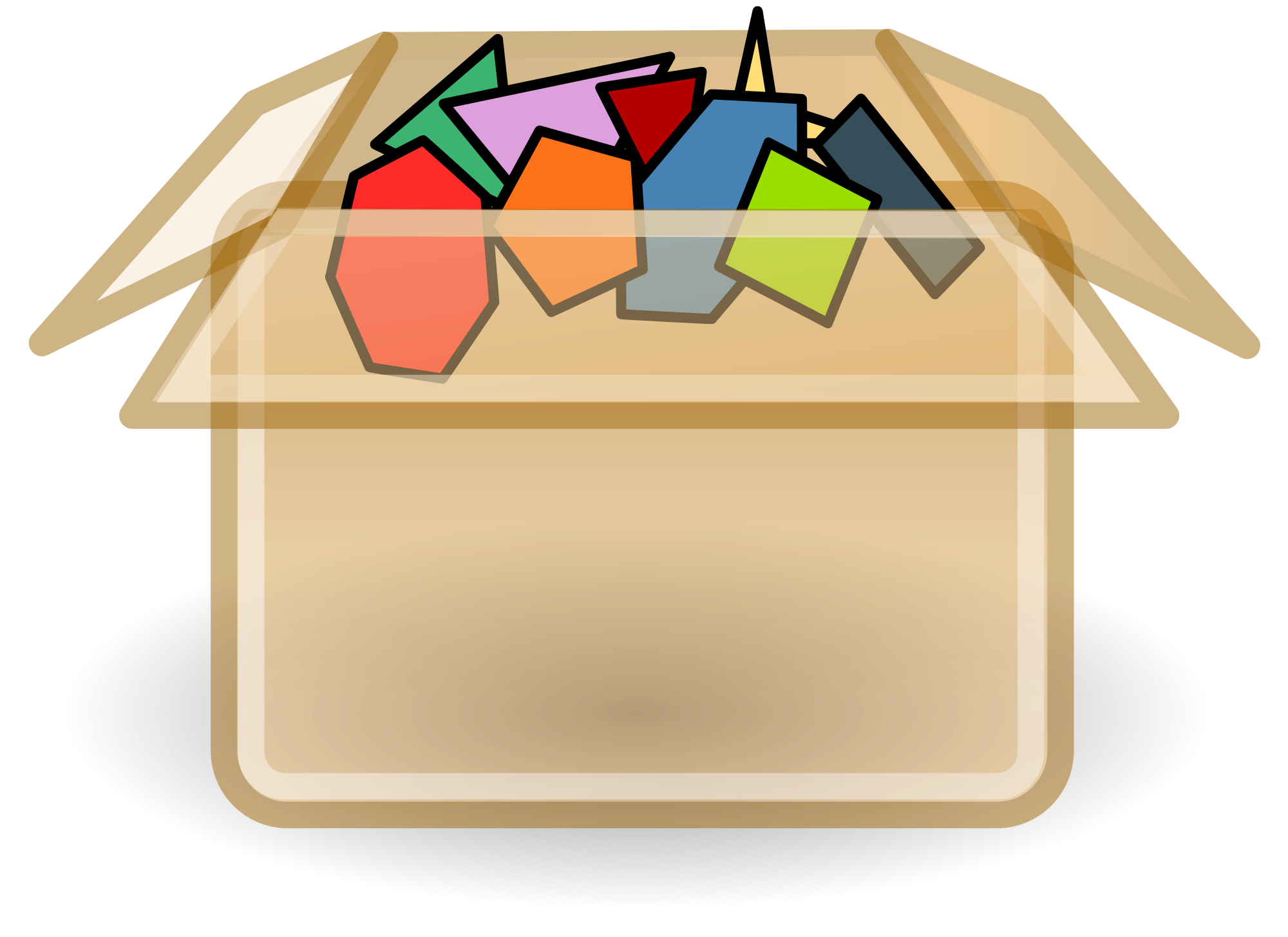 Fur vector polygon. File transparent box with
