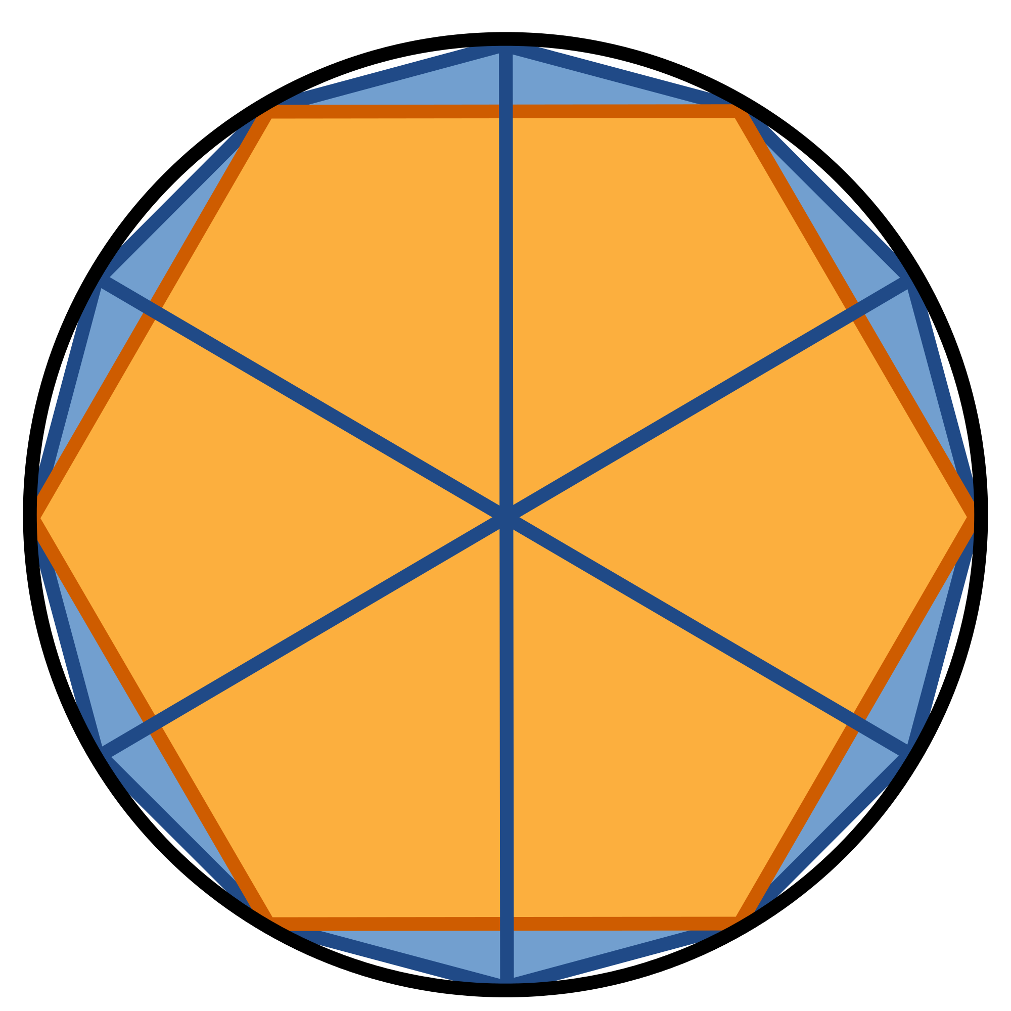 Fur vector polygon. File circle approximation with
