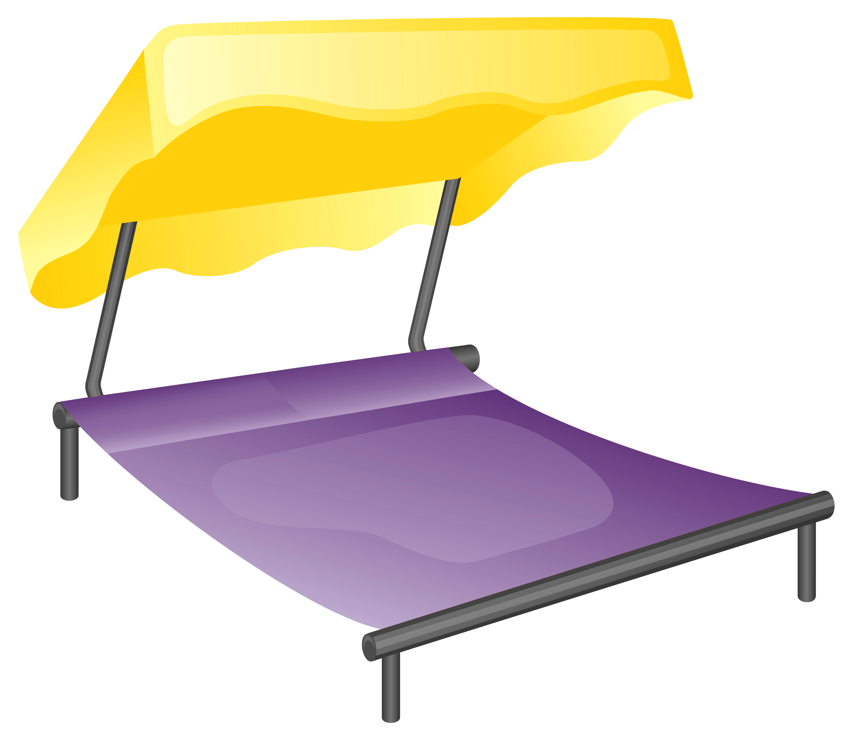Vector furniture bed. Clipart graphics illustrations free