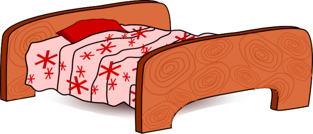 Vector furniture bed. Nice kids clipart stock