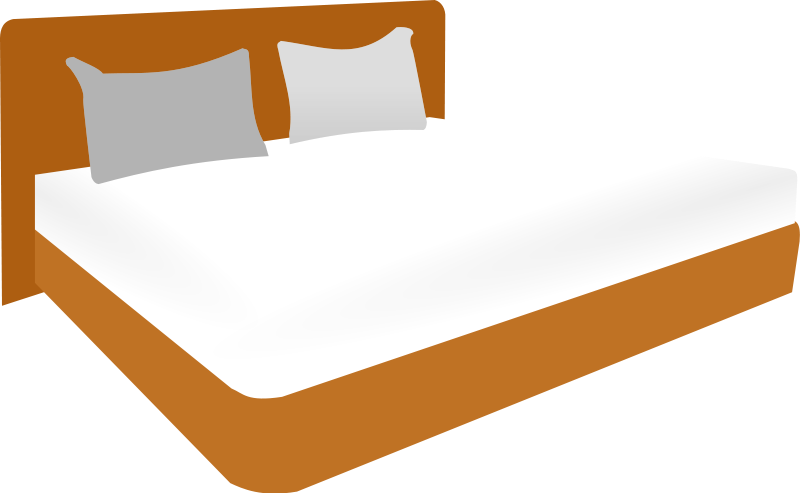 Vector furniture bed. Double clipart clipground this