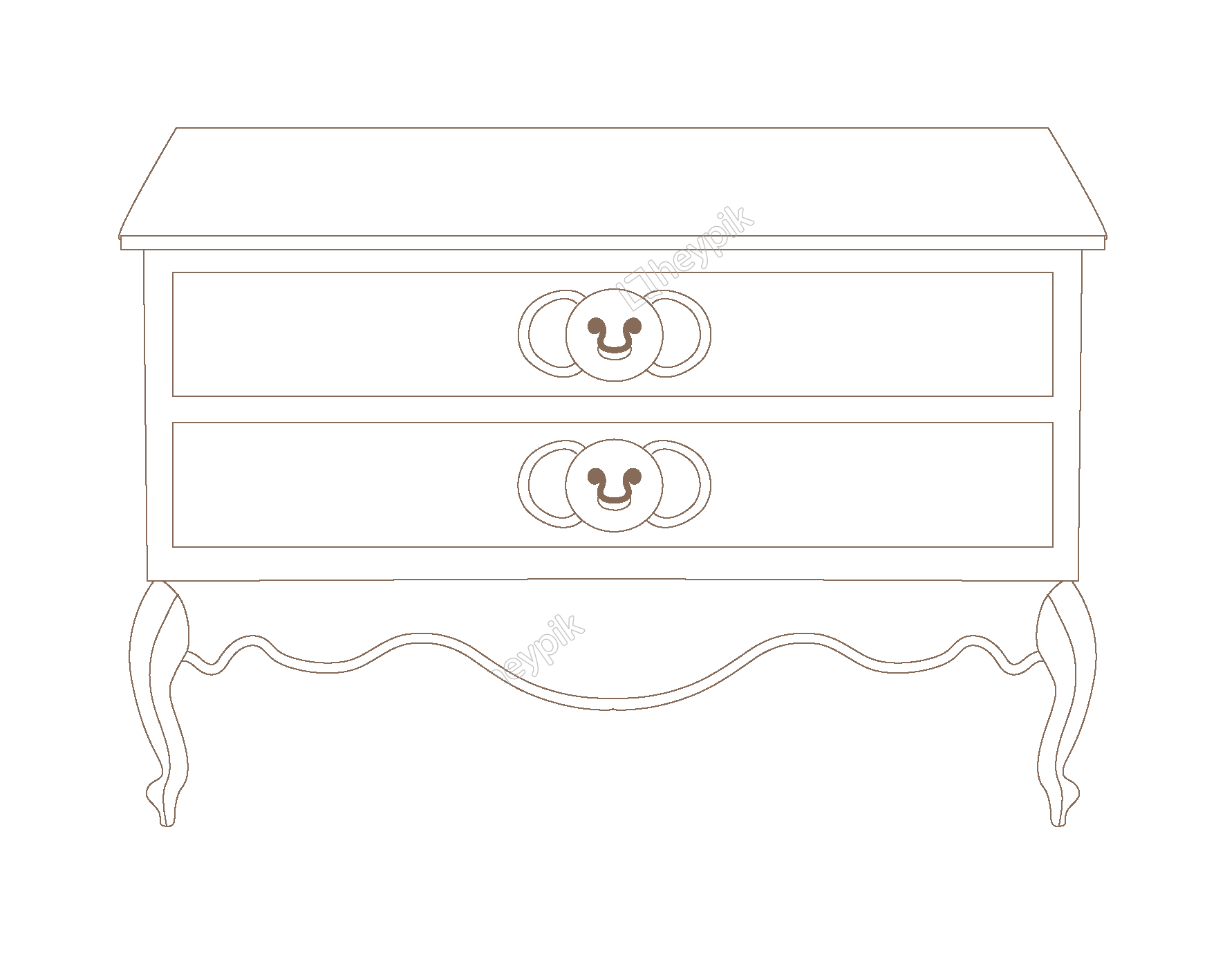 Vector furniture elements. Hand drawn simple fashion