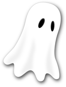 Clip art at clker. Ghost clipart white lady ghost jpg black and white download