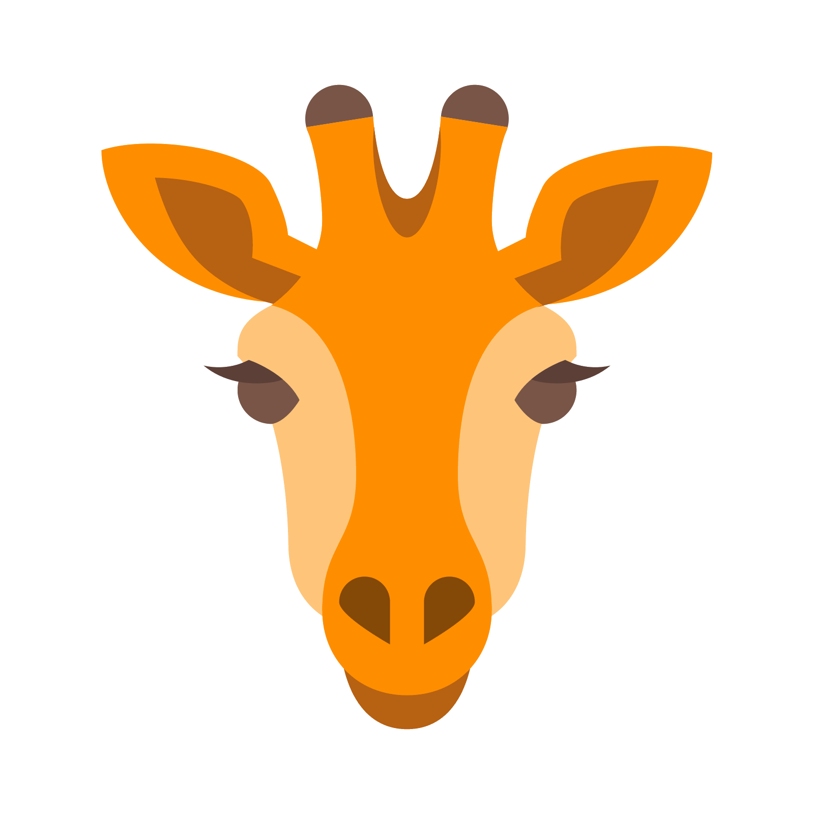 Vector giraffe head. Icon free download png