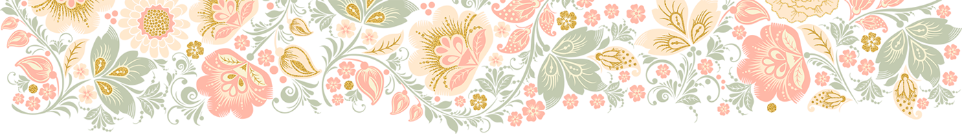 Vector glitter jpeg. Floral peach day collection