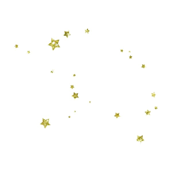 Vector glitter gold pattern. Clipart on transparent background