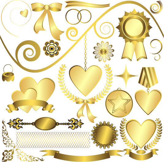 Vector gold. Psd official psds share