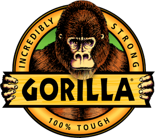 Vector gorilla logo. Incredibly strong glues tapes