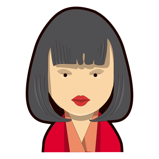 Vector hair png. Bob woman red lipstick