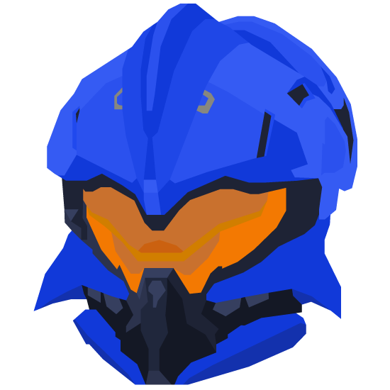 Vector halo helmet. Helioskrill by absorbence on