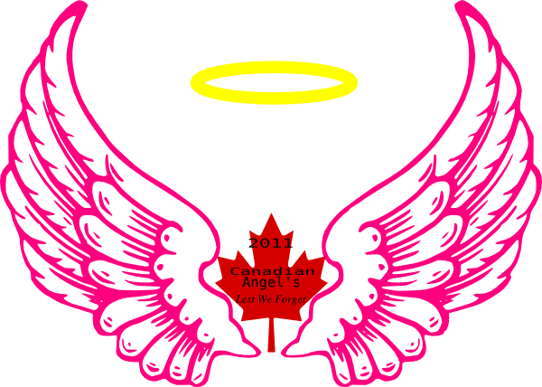 Vector halo small angel. Canadian wing clip art