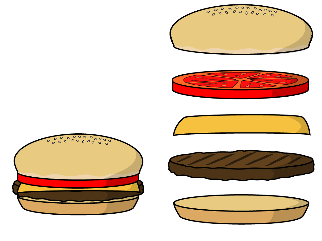 Vector hamburger animated. Burger clipart at getdrawings