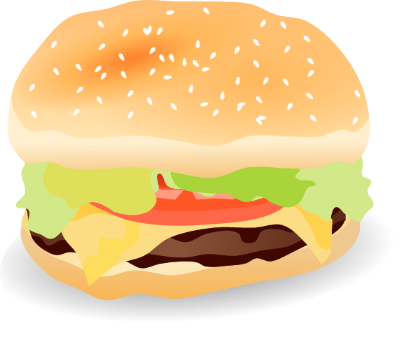Vector hamburger art. Clip at clker com