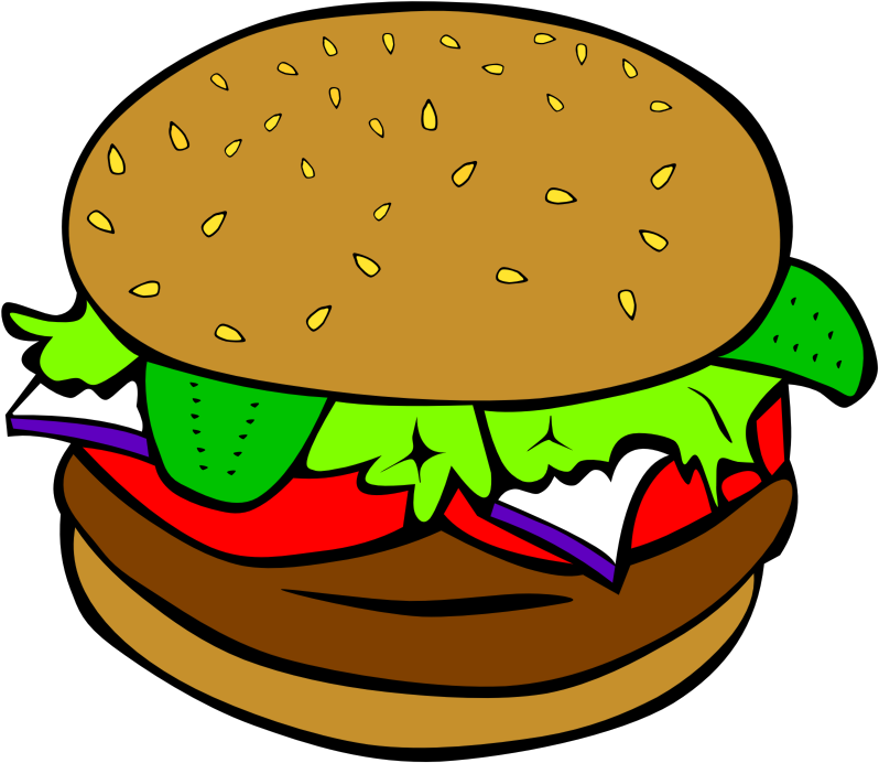 Vector hamburger blank. Food picture stock free