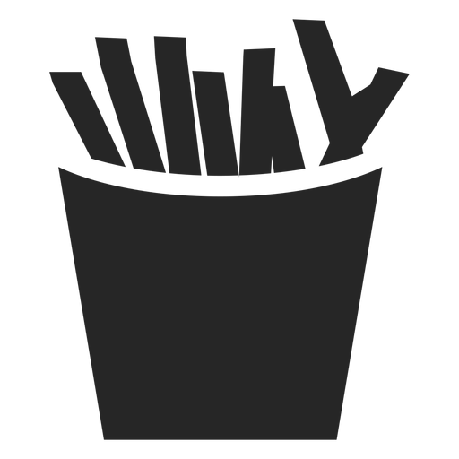 Fries vector flat. French box icon transparent