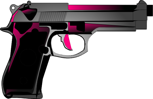 Womens guns pink handgun. Vector handguns picture royalty free stock