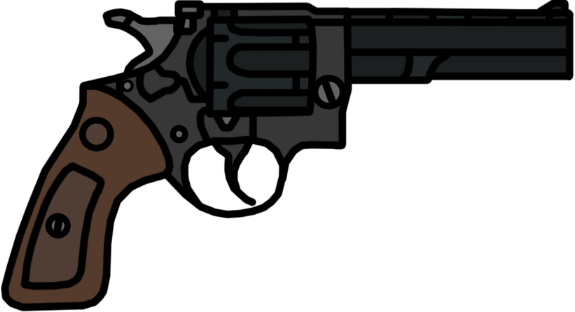 Walfas weapons revolver metro. Vector handguns graphic royalty free library