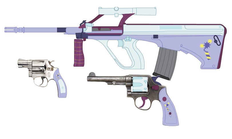 Vector handguns stockless. Main weaponry the equestrian