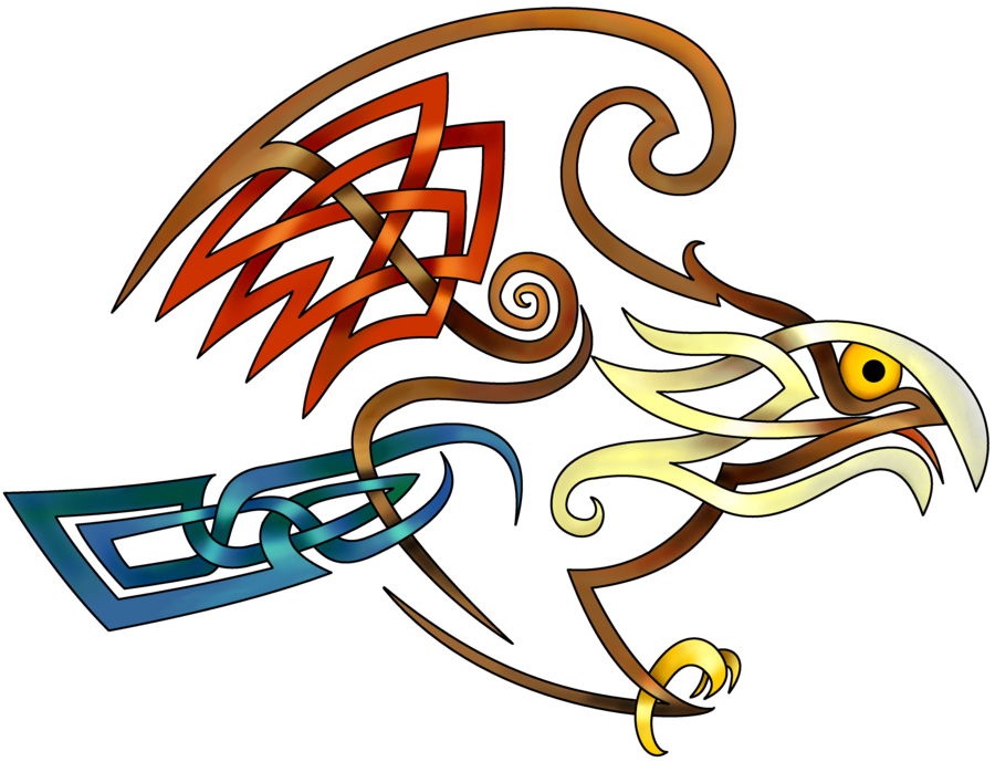 Stacey drew this hawk. Vector hawks celtic clipart freeuse stock