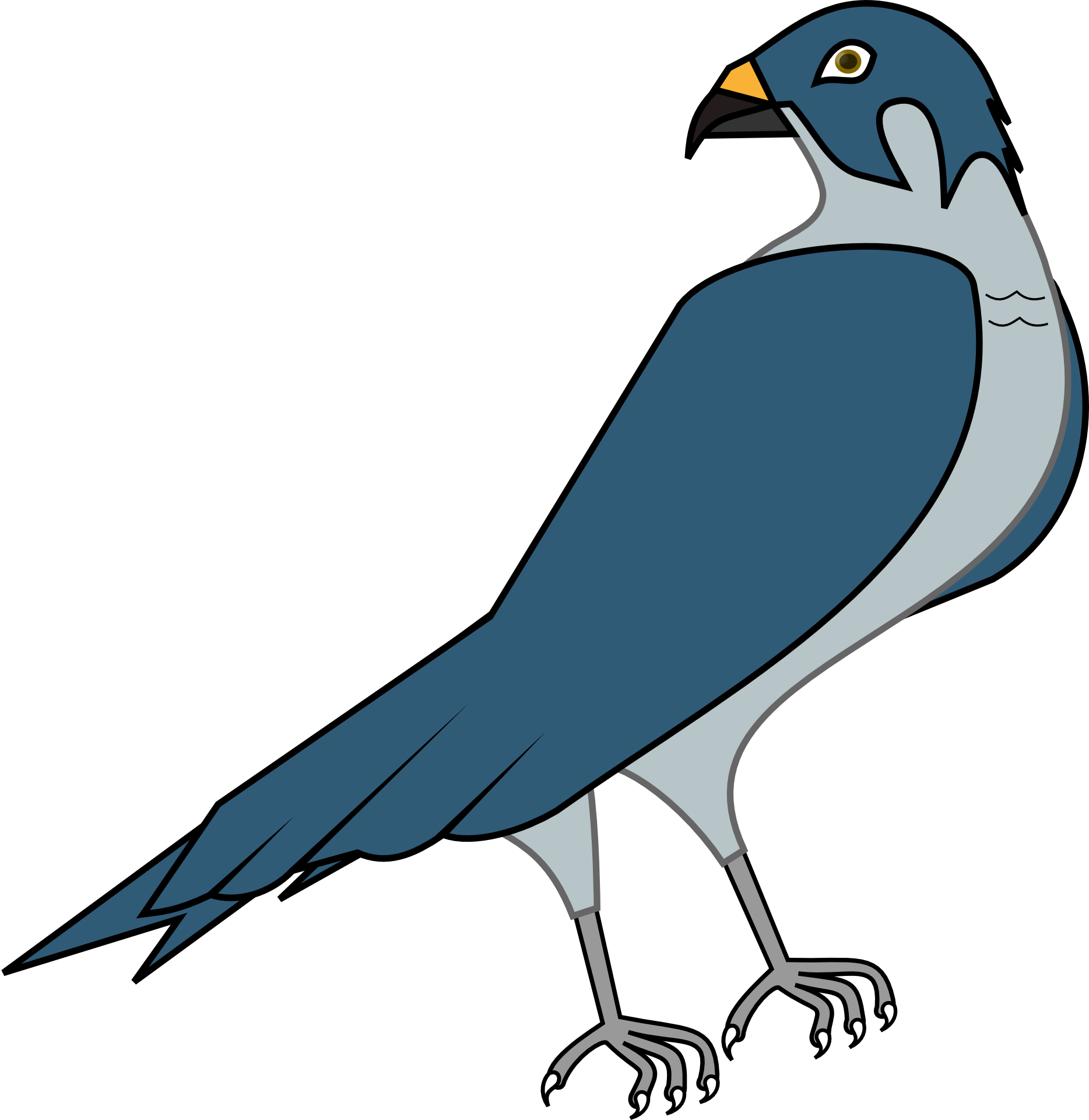 Vector hawks peregrine falcon. Clipart at getdrawings com