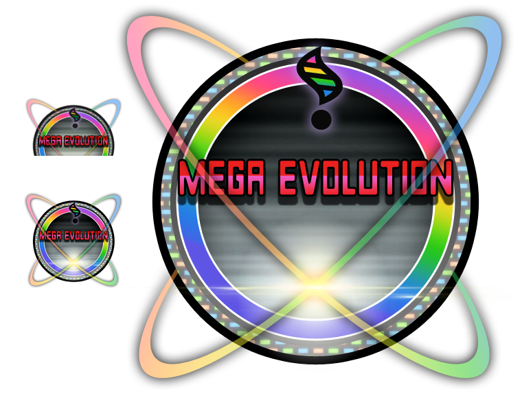 Vector hd. Mega evolution icon by