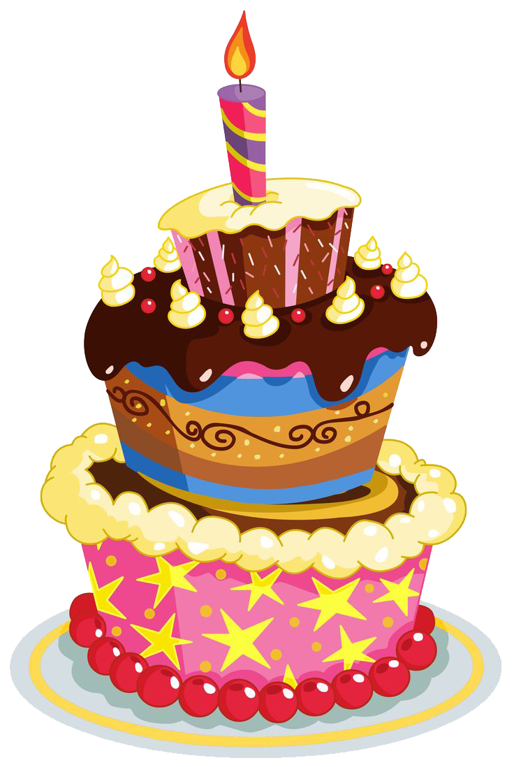 Vector hd birthday. Png cake and balloons