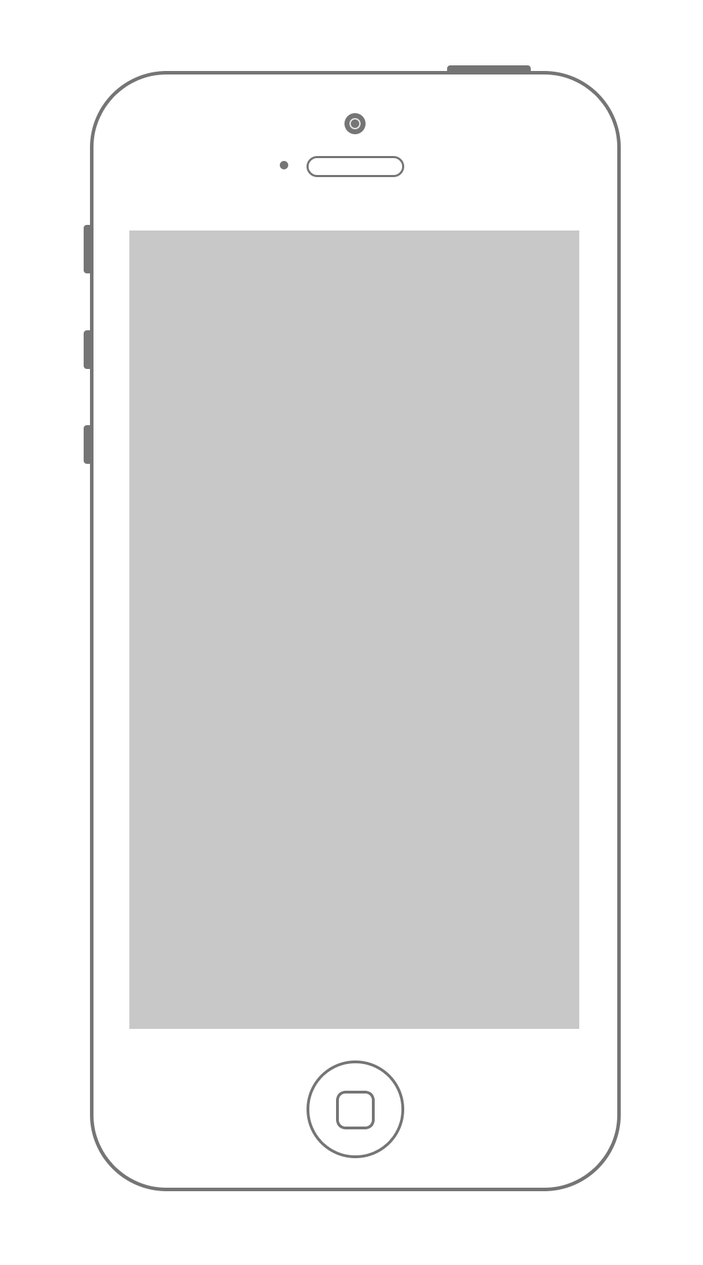 Vector screen outline. Top iphone blank file