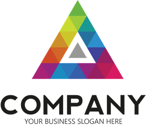 Vector triangles brand. Colored triangle logo eps