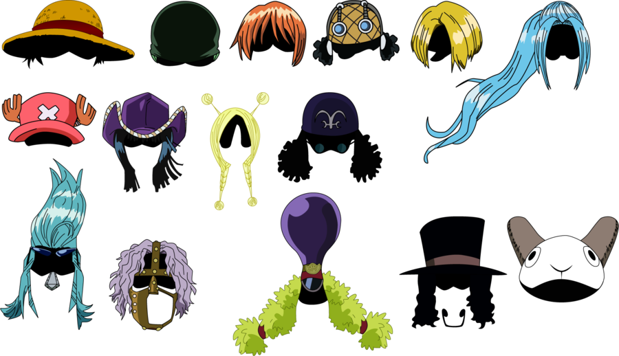 Vector heads. One piece head by