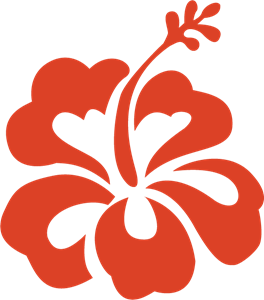 Ai vector flower. Hibiscus logo free download