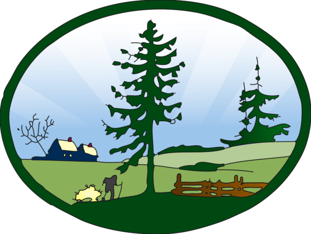 Vector hills countryside. Free country scene redone