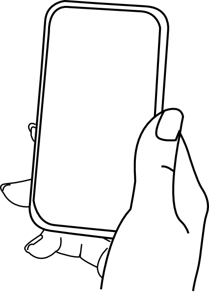 123 vector clipart. Iphone hold clip art