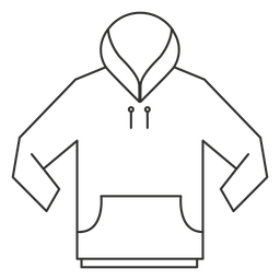 Vector hoodie drawing front. Templates download pocket stroke