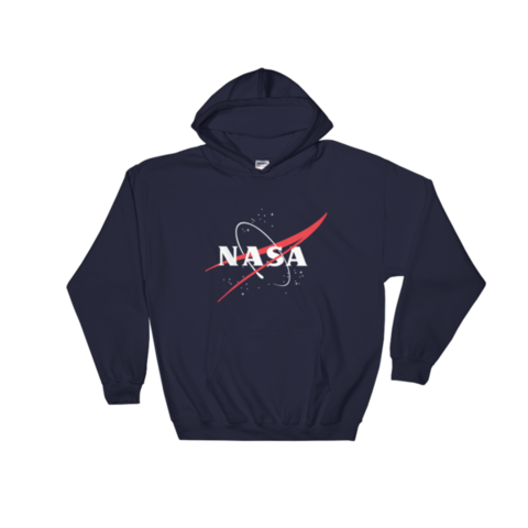Vector hoodie t shirt. Nasa logo the space