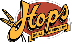 Vector hops. Grill brewery logo eps