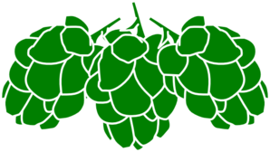 Vector hops wreath. Style guide clker brewing