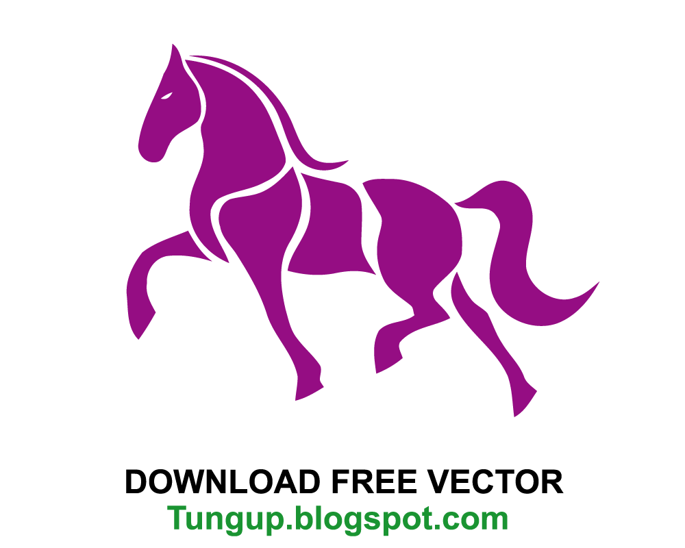 Vector horses abstract. Free download logo horse